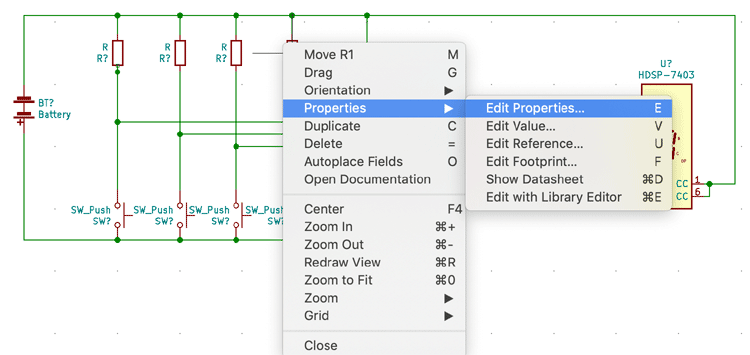 Add values and annotation to Components