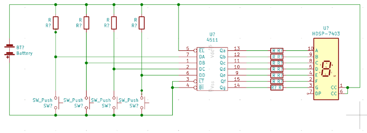 Circuit Diagram for 7-segment Display Driver