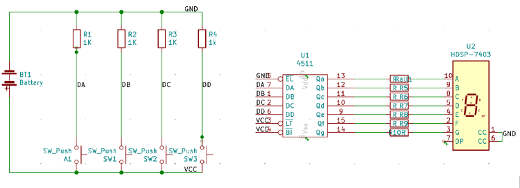 Connecting Components Using Buses and Labels on KiCad