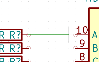 Connecting Components using wire in KiCad