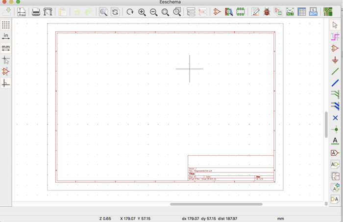 KiCad EEschema Window