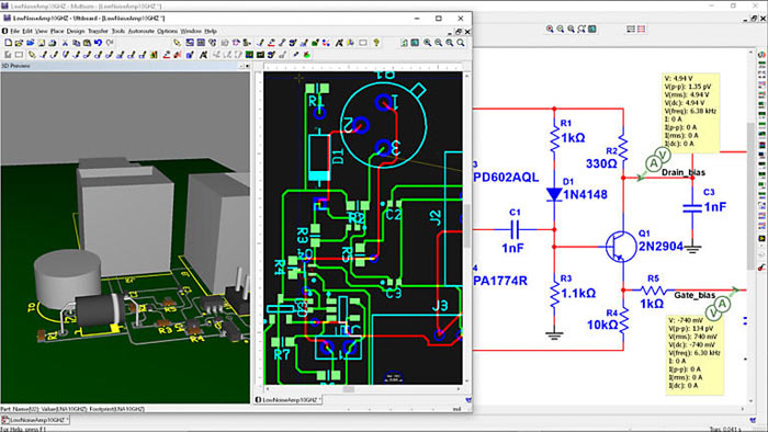 MultiSim PCB Software