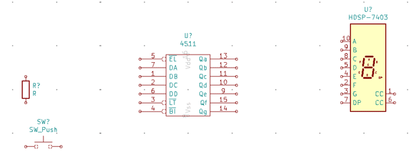 Placing component on the canvass in KiCad