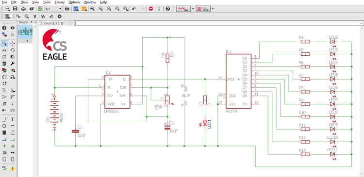 Eagle Tutorial 2 4 Drawing Schematics In Eagle Pcb Design Software